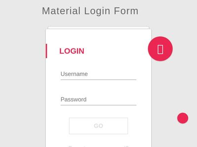 Bootstrap Snippet Material Login Form using HTML CSS jQuery