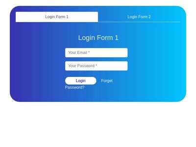 Login Forms with tabs