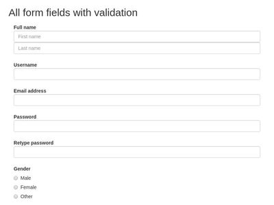 All in one (form validation)