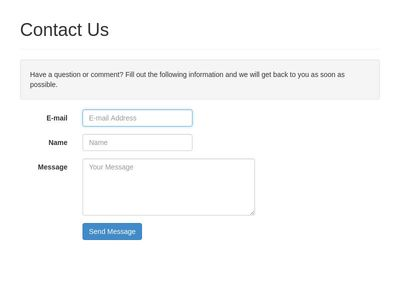 Contact Form for Bootstrap 3+ with HTML5 Validation