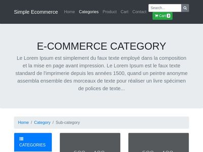 Ecommerce Category (product list) Template by t-php.fr