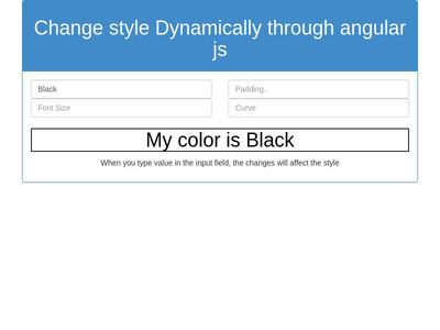 Change style Dynamically through angular js