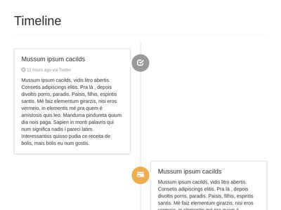 Timeline (responsive, phone optimized)