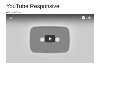 TEST YouTube Responsive