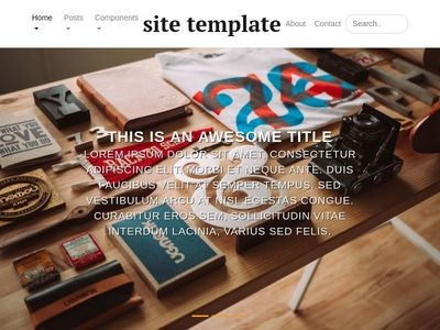 Bootstrap 4 Custom Template