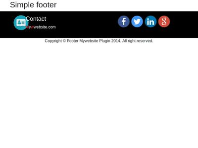 footer bootstrap 4