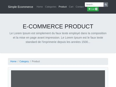 Ecommerce Product Template by t-php.fr