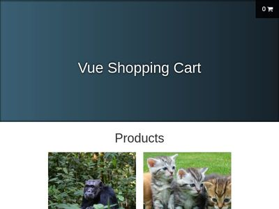 shop card vue js