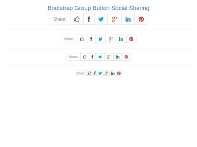 Bootstrap Group Button Social Sharing