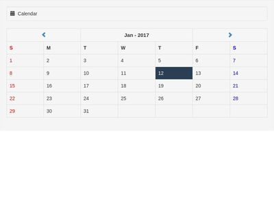 Bootstrap Calendar with php