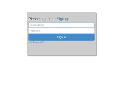 login form with flip transitions
