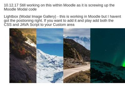 Lightbox (Modal Image Gallery) - Working Moodle 3.3.3 - WIP