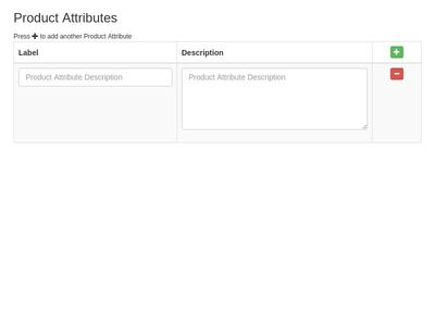 Add & Remove Product Attributes 2