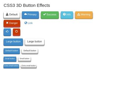 3D Buttons Effects
