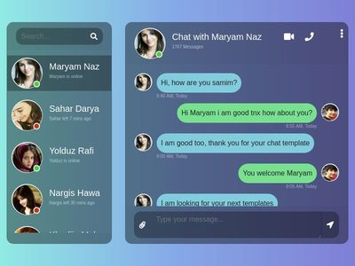 Elegant Bootstrap 4  message chat box template