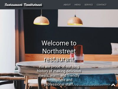 Bootstrap 4 Restaurant Template Website