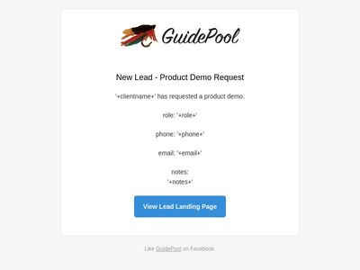 Email Template - Guidepool