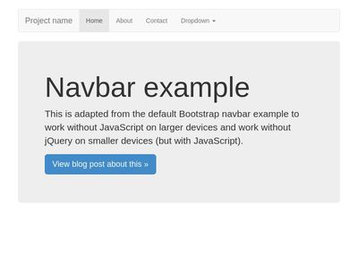 Bootstrap 3 Navbar native js without jquery