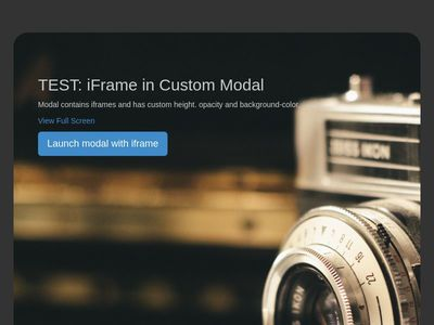 Bootstrap Snippet <iframe> in Custom Modal using HTML CSS