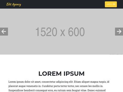 Bootstrap 4 Customize Agency Theme
