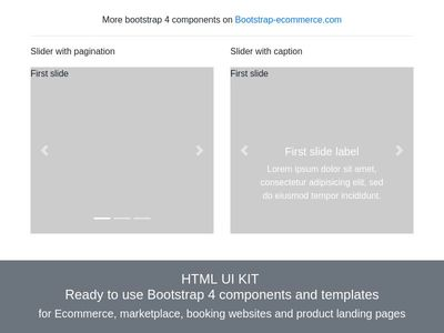 Bootstrap4 slider, Bootstrap 4 carousel, carousel fade and slide effect example