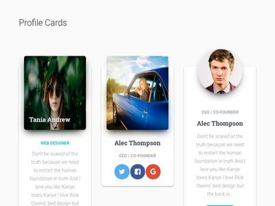 Bootstrap Material Cards