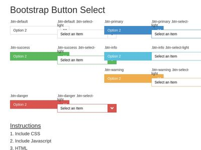Bootstrap Button Select