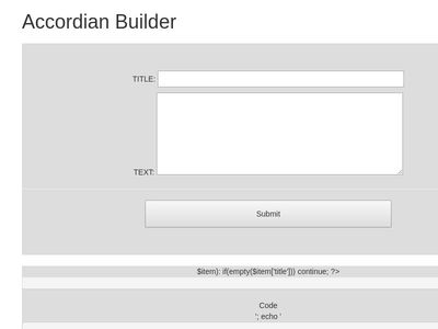 Bootstrap Accordian Easy Build