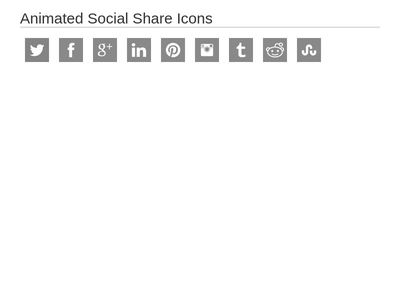 Animated Social Share Icons html css Bootsnipp