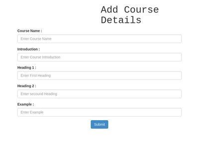 Add CourseDetail For Admin
