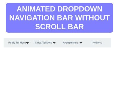 animated scrollbar navigation menu