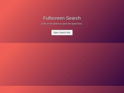 Fullscreen Search