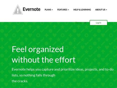 Evernote landing page bootstrap-3