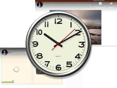 clock design css 3 with Youtube Embed Video