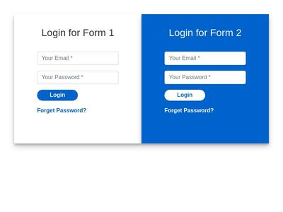 Boostrap Dual Login Form