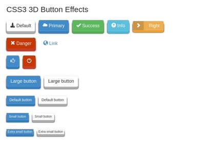 3D Buttons Effects + button label