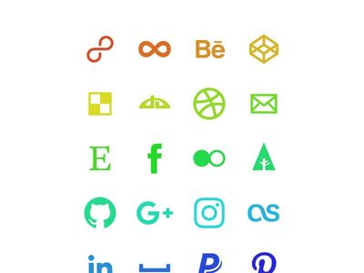 animated svg social icons
